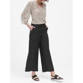 Wide-Leg Cropped TENCEL™ Pant