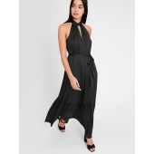 Satin Twisted Maxi Dress