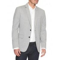 Slim-Fit Stretch Grey Blazer