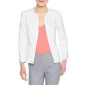 White Pique Peplum Jacket