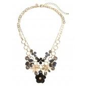 Noir Floral Statement Necklace