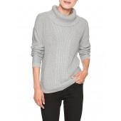 Cable Front Cowl Neck Sweater