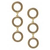 Caviar Bead Circle Drop Earring