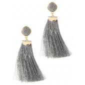 Metallic Tassel Earring