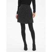 Plaid A-Line Wrap Skirt