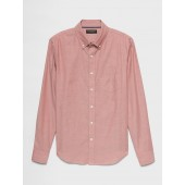 Slim-Fit Yarn Dyed Untucked Oxford Shirt
