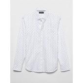 Print Slim-Fit Untucked Oxford Shirt