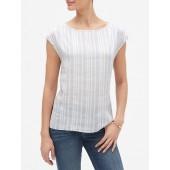 Stripe Linen Blend Tunic