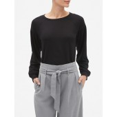 French Terry Drop Shoulder Top