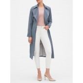 Wrap Tie Soft Long Trench Coat
