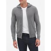 Textured Full Zip Sweater Hoodie