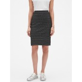 Geo Jacquard Pencil Skirt