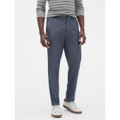 Slim-Fit Linen Blend Pant