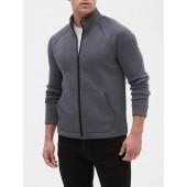 Zip Front Mock-neck Athletic Jacket