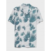 Vintage Tropical Print Polo
