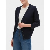 Button Up V-Neck Cardigan