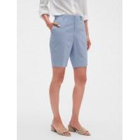 Tailored Seersucker Bermuda Shorts - 10 inch inseam