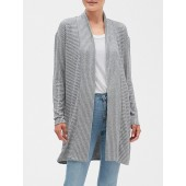 Luxespun Ribbed Long Cardigan