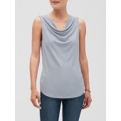 Crepe Cowl Neck Top
