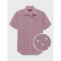Standard-Fit Linen Blend Shirt