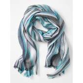 Lightweight Turquoise Stripe Scarf