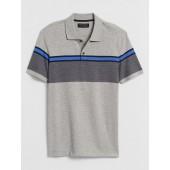 Slim-Fit Chest Stripe Dress Polo