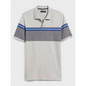 Bold Chest Stripe Dress Polo