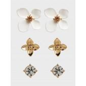 Floral 3 Pack Earrings