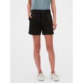 Paperbag Tie Waist Shorts - 5 inch inseam