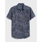Slim-Fit Soft Wash Print Shirt