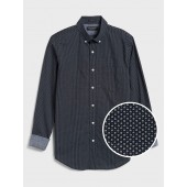 Slim-Fit Soft-Wash Stretch Print Shirt