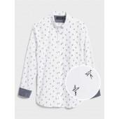 Standard-Fit Soft-Wash Stretch Print Shirt