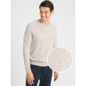 Nep-Speckled Crew-Neck Sweater