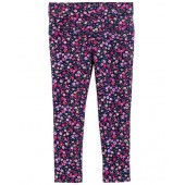 French Terry Floral Jeggings