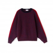 Womens Made In France Contrast Band Wool Jersey Sweater