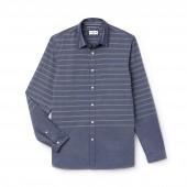 Mens Slim Fit Striped Poplin Shirt