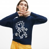 Women's Keith Haring 3D Print Cotton Sweater