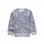 Boys OMY Edition Crew Neck Printed Fleece Sweatshirt