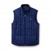 Mens Lightweight Built-in Hood Quilted Down Packable Vest
