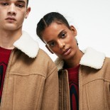 Unisex LIVE Detachable Collar Wool Broadcloth Zip Jacket