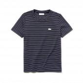 Womens Crew Neck Striped Cotton Jersey T-shirt