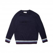 Boys Crew Neck Lettering Jersey Sweater