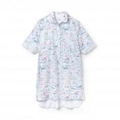 Womens Print Cotton Twill Shirt Dress