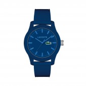 Mens Lacoste 12.12 Watch with White Silicone Strap