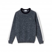 Mens Made In France Crew Neck Contrast Band Jersey Sweater