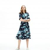 Women's Cotton Pique Belted Dress