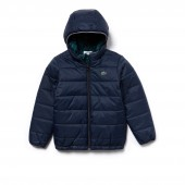 Boys Reversible Bicolor Quilted Jacket