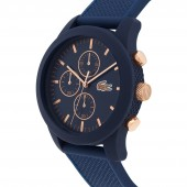 Mens Lacoste 12.12 Watch with Blue Silicone Strap