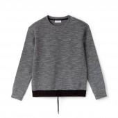 Womens SPORT Technical Fleece And Taffeta Tennis Sweatshirt