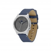 Mens Motion Watch with Blue Leather Strap